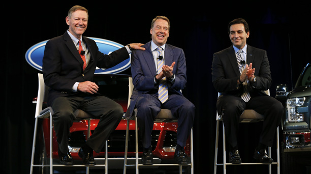 Alan Mulally, Bill Ford Jr., Mark Fields
